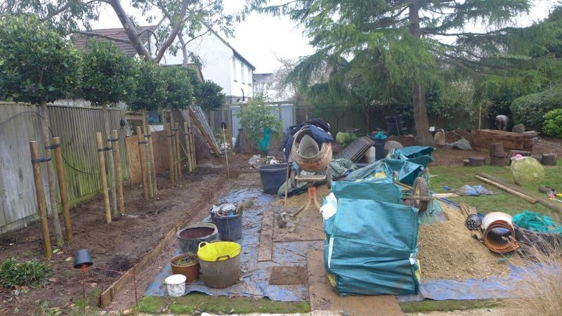 Transformation- Before and After the Garden Design in Brighton